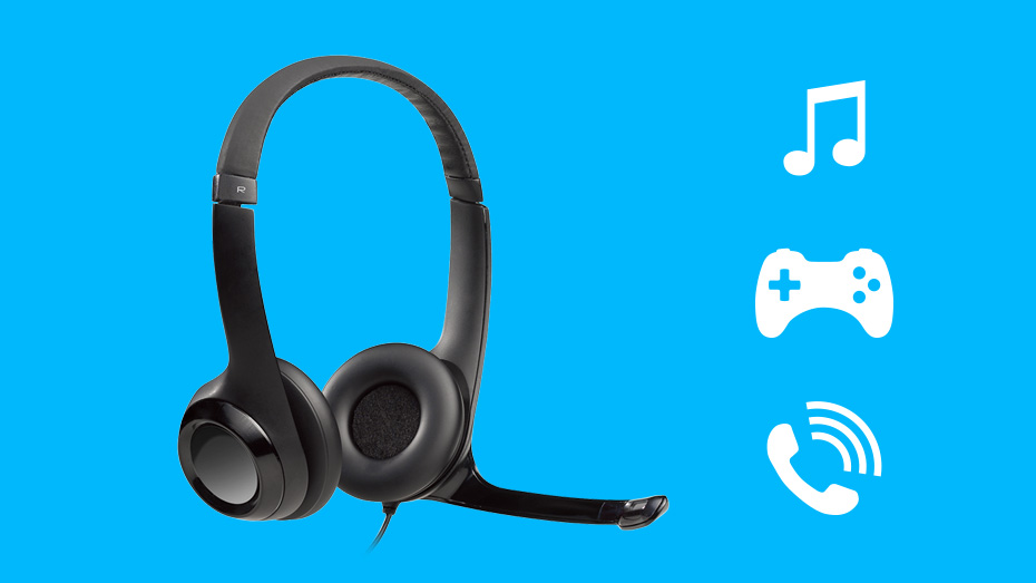 Logitech H390 USB Headset Digital Stereo Sound